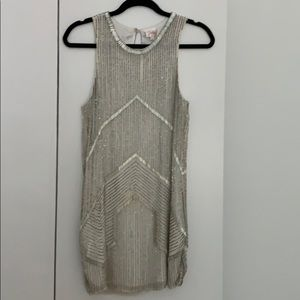 Parker white sequined dress